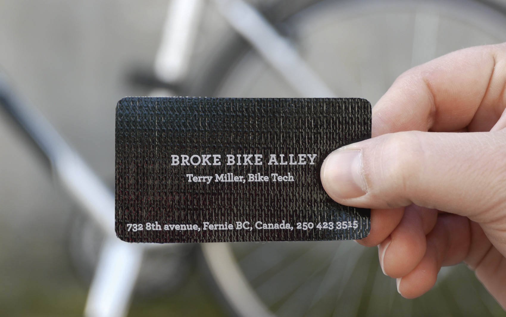 bike patch business card - Rethink Canada