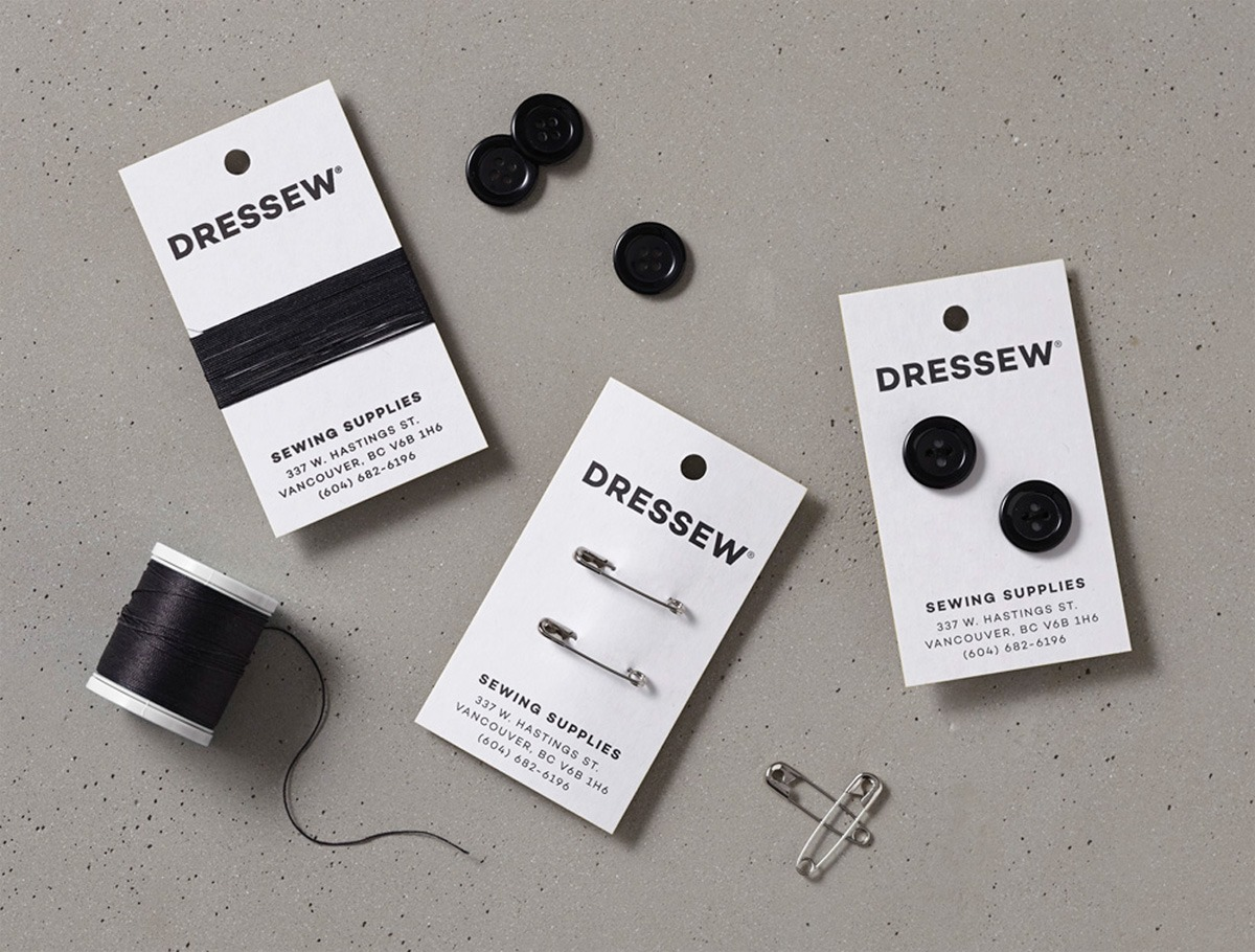 Dressew business cards