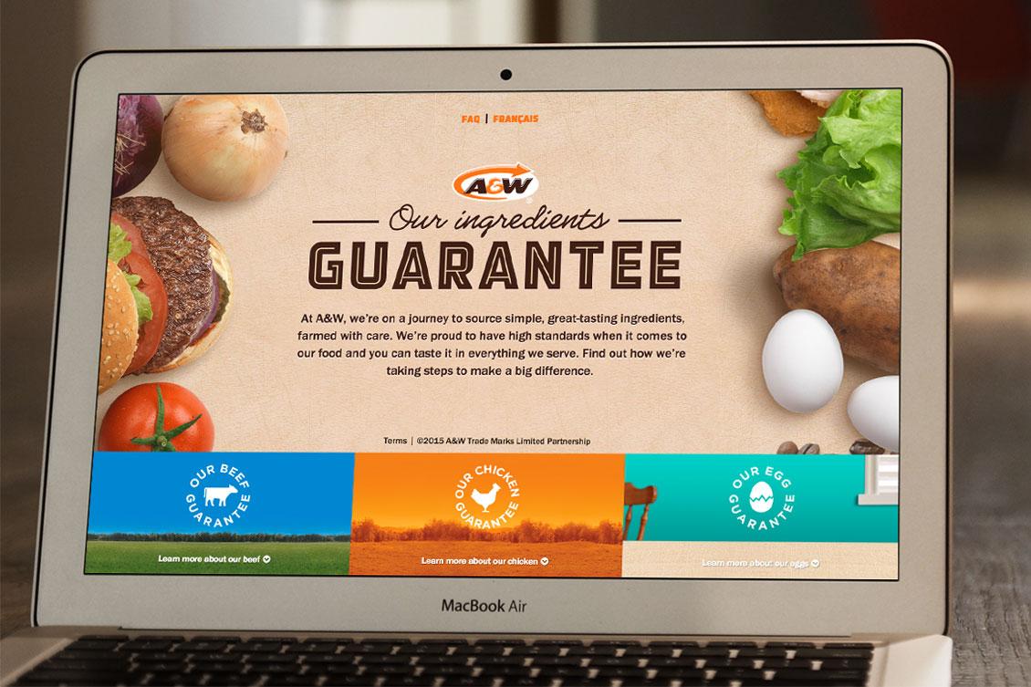 A&W Guarantee website