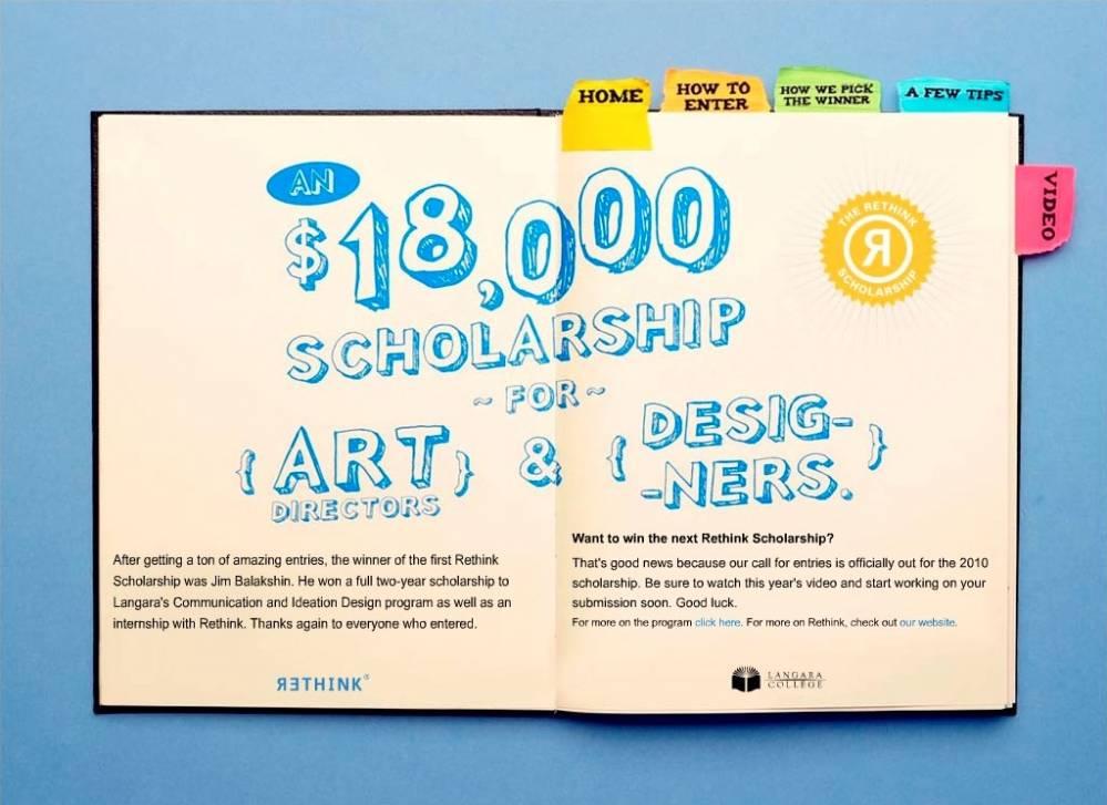 scholarship microsite