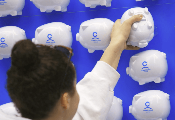 Coast Capital Piggy Bank Stunt