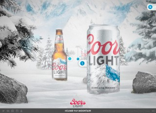 Coors Light website 3