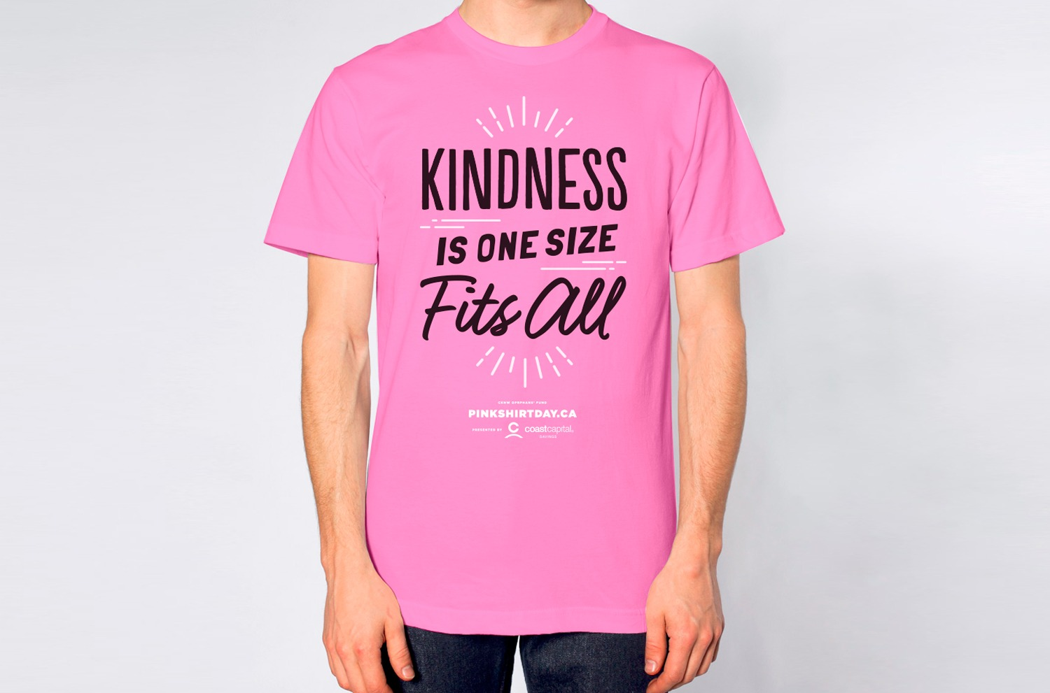 Pink Shirt Day - Kindness is one size fits all. - Rethink Canada